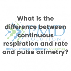 What is the difference between continuous respiration and rate and pulse oximetry?