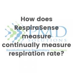 How does RespiraSense measure continually measure respiration rate?